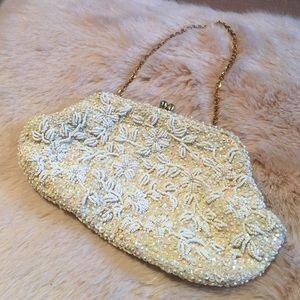 Handbags - Vintage Hand Beaded Clutch SFH